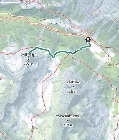 Map / Zwölferköpfl peak