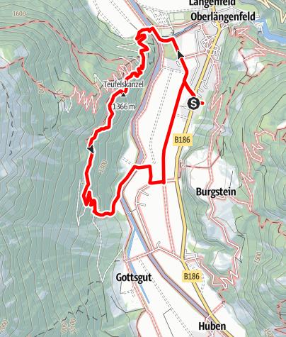 Map / Duringweg - Längenfeld