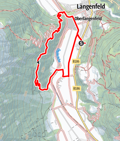 Map / Duringweg - Längenfeld