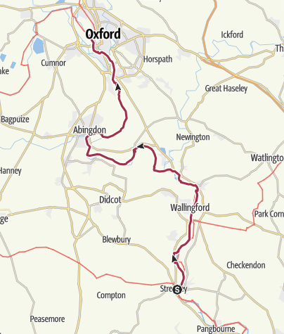 Map / TwoCastles 4 -Streatley to Oxford (ThamesPath)