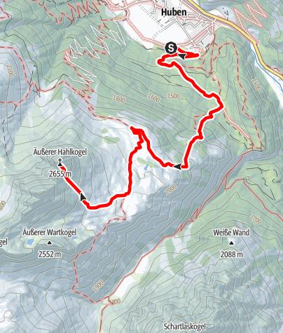 Karte / Hahlkogel 2655m - Längenfeld/Huben