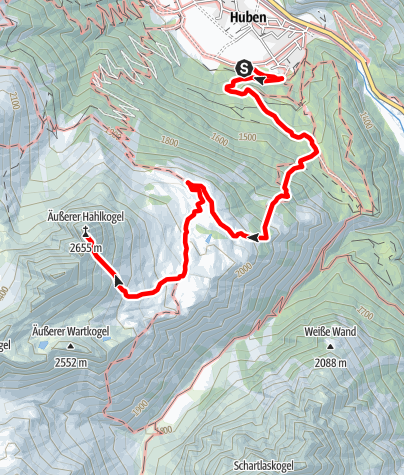 Map / Hahlkogel 2655m - Längenfeld/Huben