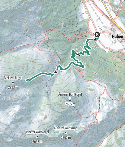 Map / Niederer Breitlehnkogel  2813m - Längenfeld