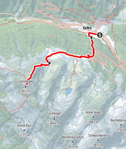 Map / Gamskogel 2813m - Längenfeld/Gries