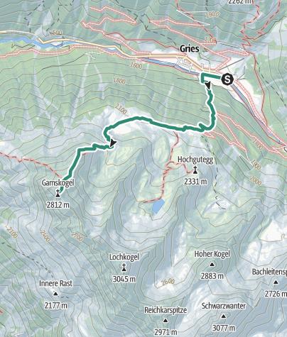 Map / Gamskogel 2813m - Längenfeld/Gries