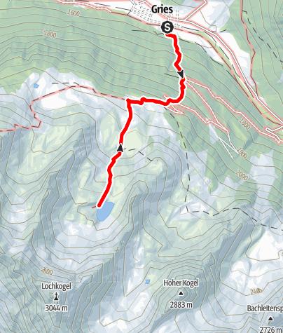 Karte / Schönrinnenkarsee - Längenfeld/Gries
