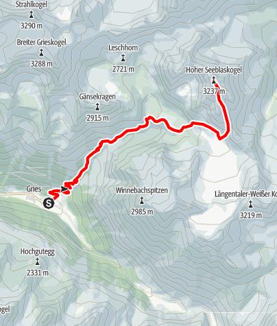 Map / Hoher Seeblaskogel 3235m - Längenfeld/Gries