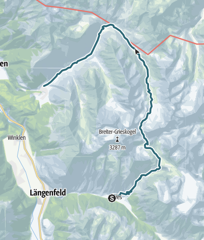 Map / Panorama  Trail  - Längenfeld/Gries