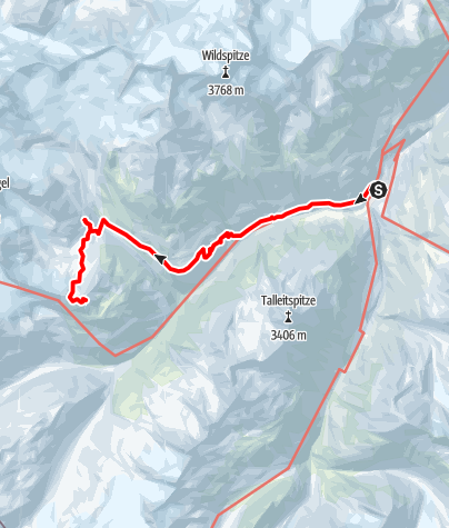 Karte / Guslarspitze - von der Vernagthütte