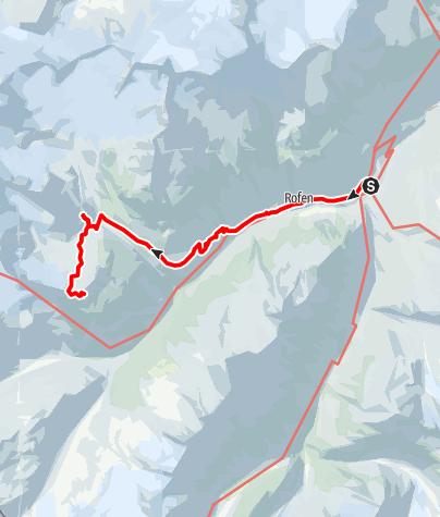 Map / Guslarspitze - von der Vernagthütte