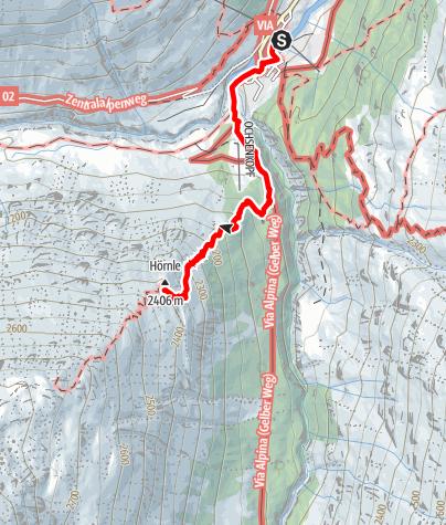 Karte / Hörndle