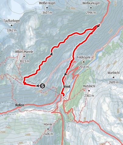 Karte / Höhenweg Sonnberg