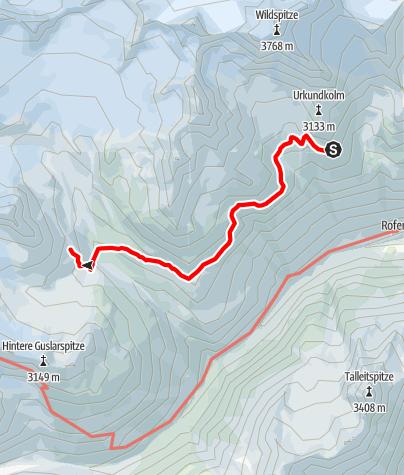 Karte / Seufertweg Breslauer Hütte - Vernagthütte