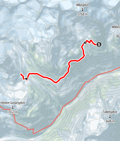 Map / Seufertweg Breslauer Hütte - Vernagthütte