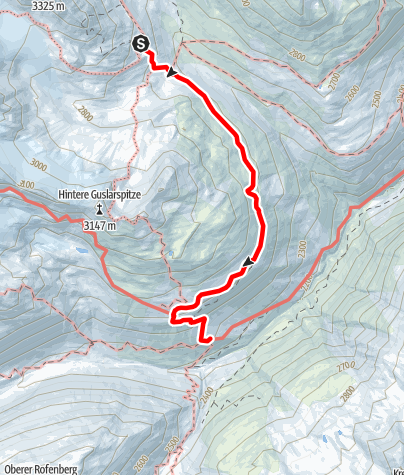 Karte / Seufertweg Vernagthütte - Hochjoch Hospiz
