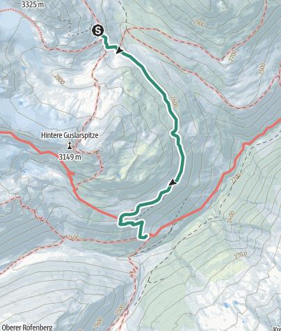 Map / Seufertweg Vernagthütte - Hochjoch Hospiz