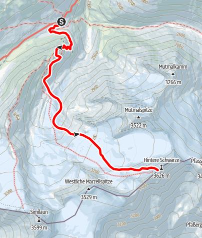 Karte / Hintere Schwärze (von der Martin-Busch-Hütte)