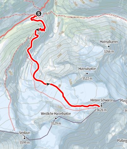 Map / Hintere Schwärze (from Martin-Busch-Hütte)