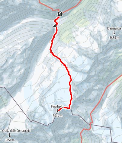 Karte / Finailspitze