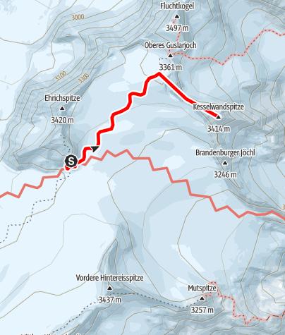 Karte / Kesselwandspitze
