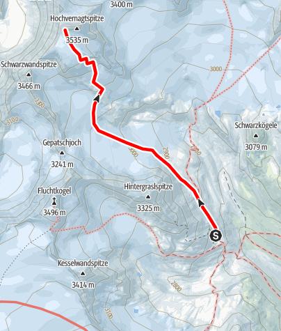 Karte / Hochvernagtspitze