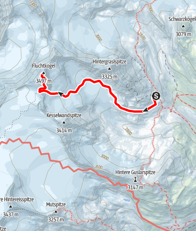 Map / Fluchtkogel (from Vernagthütte)