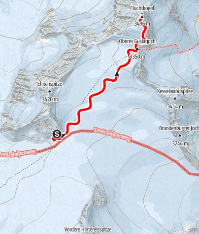 Karte / Fluchtkogel (vom Brandenburger Haus)