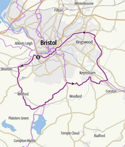 Map / Ashton to Chew & Saltford Circular