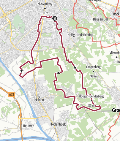 Map / Nijmegen: estates and forests EXTENDED