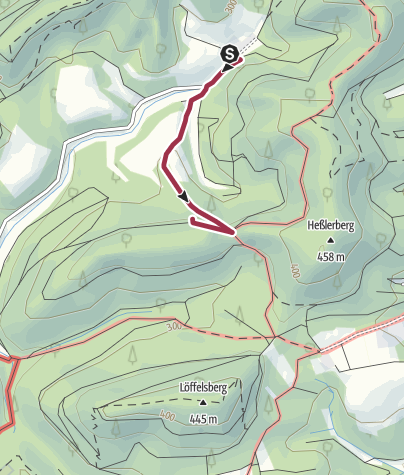 Karte / Zustieg - Mondfels