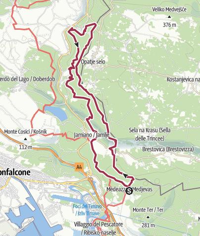 Map / Medeazza - Devetachi