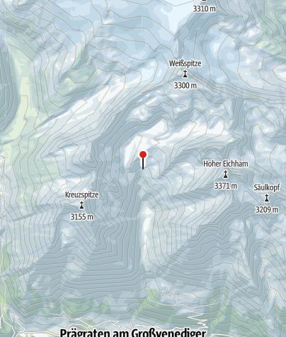 Karte / Eisseehütte 2.521m