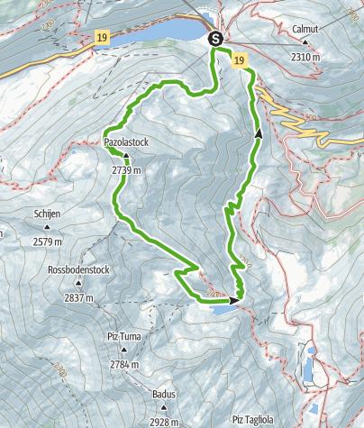 Karte / 676 Pazolastock - Rheinquelle