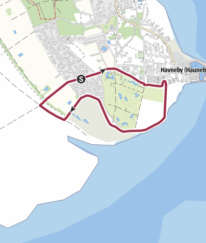 Map / Rømø Havneby rundtur 6,5 km
