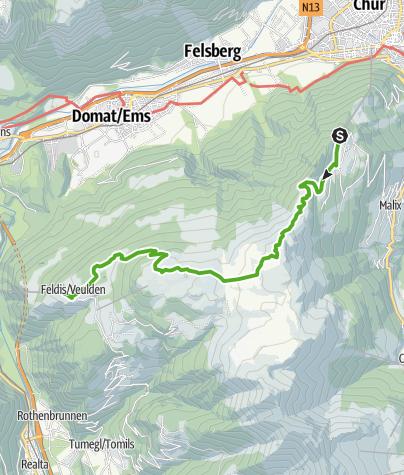 Karte / 739 Dreibündenstein Panoramaweg