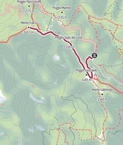 Map / Parcheggio Fangacci-Falco IQ ciaspole