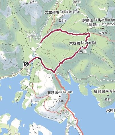 Map / 遊客中心 - 萬宜坳 - 大枕蓋 - 怡庭