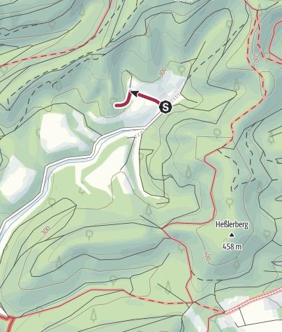 Karte / Zustieg - Klosterfels