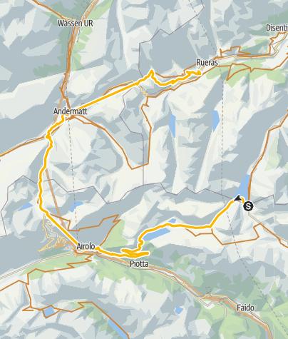 Map / Knackige Drei-Pässe-Tour