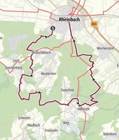 """Karte / GA-Wandertag 2016 - 30km - Vorbei an """"Höllekretze"""" und Hexenbuche"""