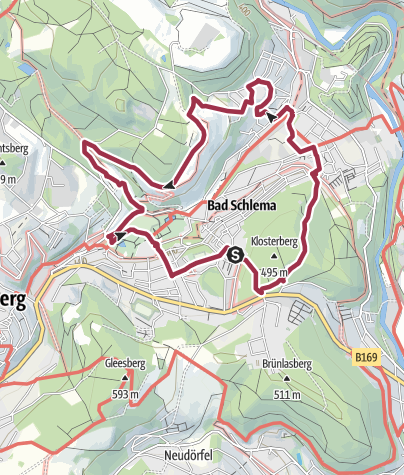 Bergbau Erzgebirge Karte.Rund Um Bad Schlema Bergbau Und Sanierungslehrpfad