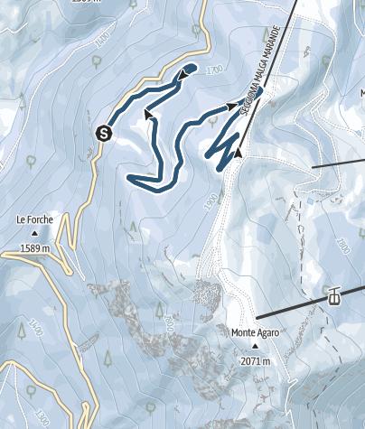 Cartina / Scialpinismo allo Chalet Paradiso