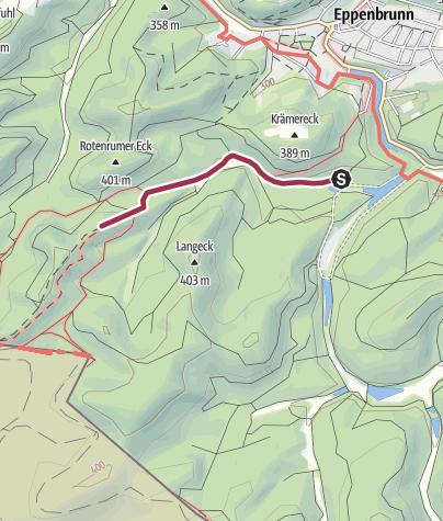 Karte / Zustieg - Altschlossfelsen