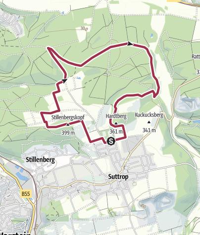 Karte / Bohnenburg-Runde bei Suttrop