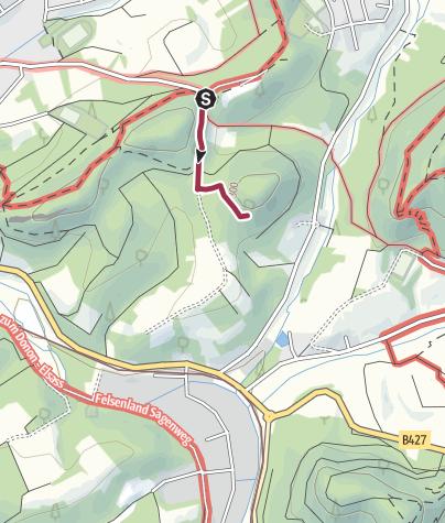 Karte / Zustieg - Fischfelsen