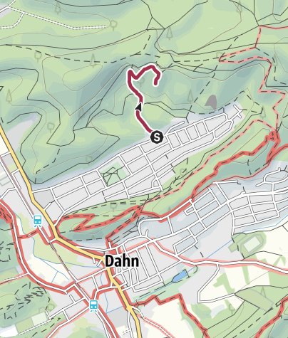 Karte / Zustieg - Haseneckfels
