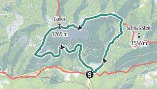 """Map / Kleiner Göller, Göller und Terzer Göller: Eine """"Göller-Runde"""" ab/bis Donaudörfl"""