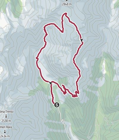 Map / Rifugio Cima d'Asta