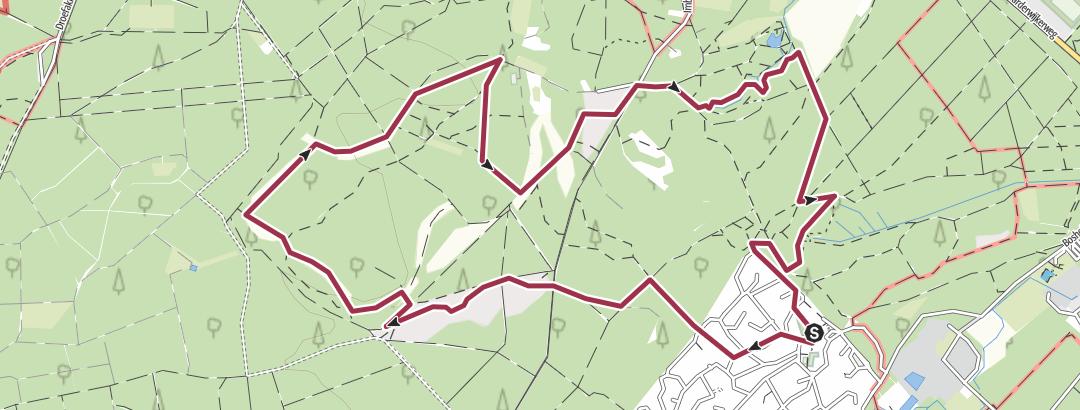 מפה / Coldenhove: Groenouwe - de Molenbeek