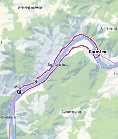 Karte / Radeln für Kids - Spitz Route 5
